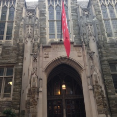 "Shusterman Hall is located on Polett Walk and can't be missed because of the large Temple ""T"" flag."