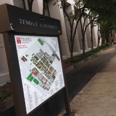 Find yourself lost on campus? Try looking at this map on Broad Street.